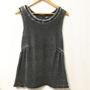 We the Free top blouse distressed gray Small